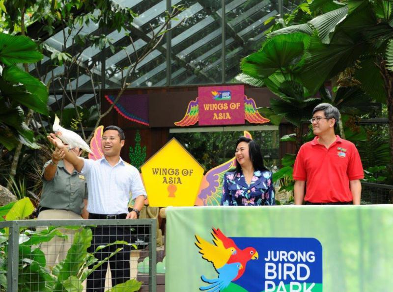 新加坡500只亞洲禽落戶飛禽公園