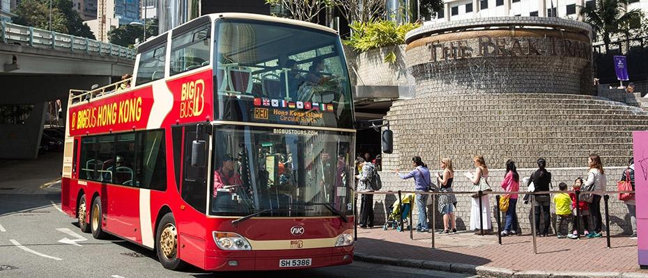港Big Bus雙層露天巴士巡遊,香港big bus優惠,香港雙層觀光巴士