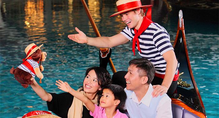 澳門貢多拉電子船票-乘坐貢多拉船暢遊澳門威尼斯人酒店大運河商城(電子票)