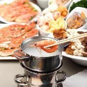 三亞開維萬達文華酒店小船海鮮火鍋自助晚餐