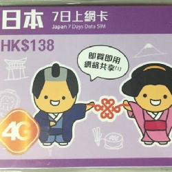 日本Softbank聯通7日4G無限數據卡