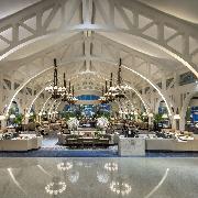 新加坡The Fullerton Bay Hotel紅燈碼頭餐廳四道菜晚餐