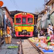 曼谷丹嫩莎朵水上市場+美攻鐵道半日遊(英文導遊)