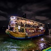 曼谷阿雷娜號夜遊湄南河+印度自助晚餐+酒店接送(Arena River Cruise)
